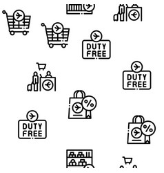 Duty free shop store seamless pattern vector