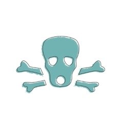Ecology and environment icon of skull vector
