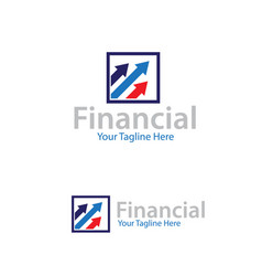 financial logo designs vector image