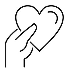 Give heart affection icon outline style vector