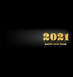 happy new year 2021 bannergolden luxury vector image