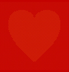heart shaped background from hearts - pattern vector image