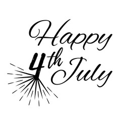 Hhappy 4 th july greeting card vector