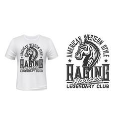 horse race club t-shirt print template vector image