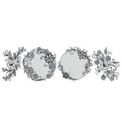 lace floral elements vintage decorative pattern vector image