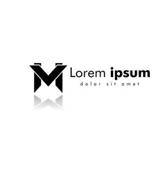 letter mv line logo design creative minimal vector image
