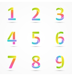 Logo numbers 1 2 3 4 5 6 7 8 9 company design vector