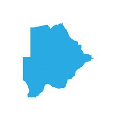 map of botswana high detailed map - botswana vector image