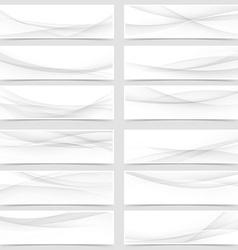 Mega web header footer banner collection vector