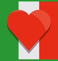 mexican flag design vector image