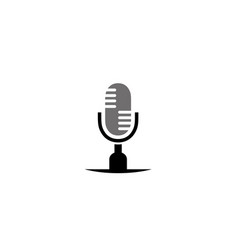 microphone and speakerphone for logo design vector image