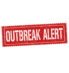 outbreak area sign or stamp vector image