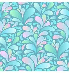 Paisley pattern blue vector
