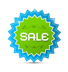 Paper Sticker - Label with Sale Title vector
