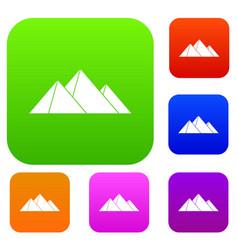 pyramids set collection vector image