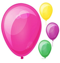 Realistic colorful balloons Eps10 vector image vector image