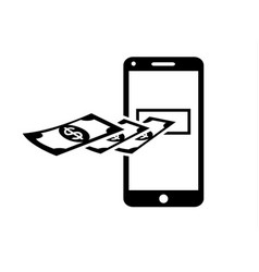 receive pay money on line vector image