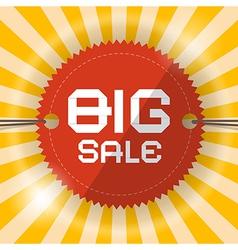 Retro Big Sale Template vector image