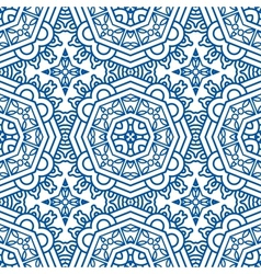 Seamless Blue Retro Pattern Background vector image
