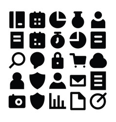 seo and marketing solid icons 1 vector image