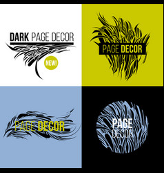 set of decorative design elements for decor vector image