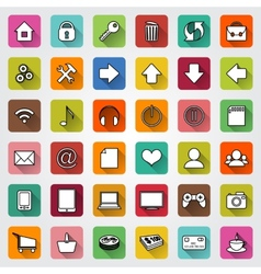 Set of flat icons for e-commerce web site vector
