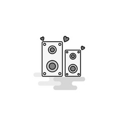 speaker web icon flat line filled gray icon vector image