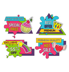 special offer and hot sale banners collection vector image