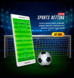 Sports betting online web banner concept soccer vector