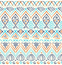 Tribal sea ethnic seamless pattern vector image