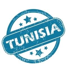 TUNISIA round stamp vector