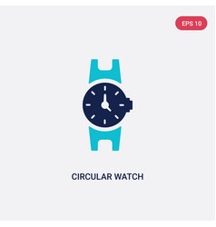 Two color circular watch icon from general vector