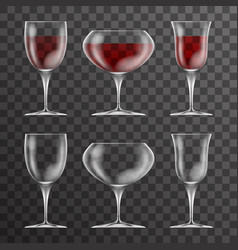 vine cup glass drink icons template design vector image