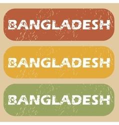 Vintage Bangladesh stamp set vector image