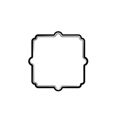 vintage frame isolated element vector image