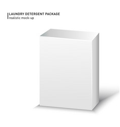White carton box package on a white background vector