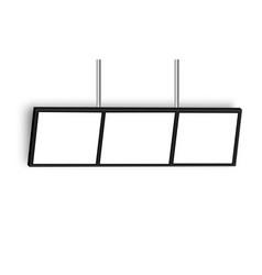 Widescreen hanging wall mount tv display vector