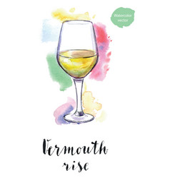 Wineglass vermouth rise vector