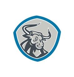 Angry Texas Longhorn Bull Shield vector image vector image