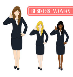 business woman thumb up vector image