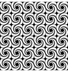 Design seamless uncolored wave background vector image vector image
