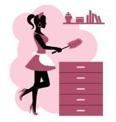 woman makes cleaning vector image vector image