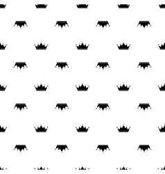 Black crown on white background vector image