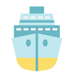 cruise flat icon travel and tourism vector image
