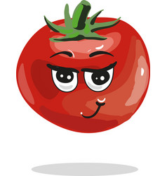 cute tomato cartoon character vector image