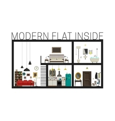 Modern flat in cut vector image vector image