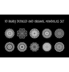 Relaxing Mandalas Set vector image
