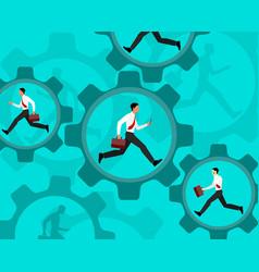 running businessmen inside vector image