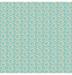 Vintage wave seamless pattern tiling vector image vector image