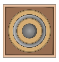 Audio speaker icon cartoon style vector image